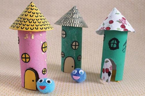 Toilet Paper Huts