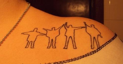 Elegant Beatles Tattoo Design