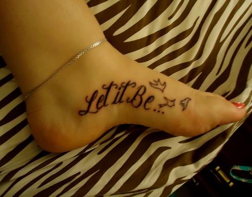 Cool Beatles Tattoo Design