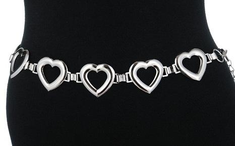 Heart Shape silver Belts for ladies