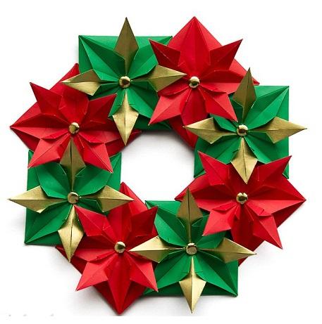 Christmas Wreath Poinsettia Crafts