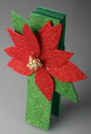 Glittery Poinsettia Crafts