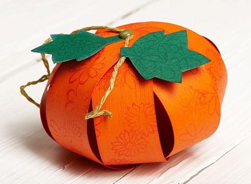 3D Paper Pumpkin Crafts