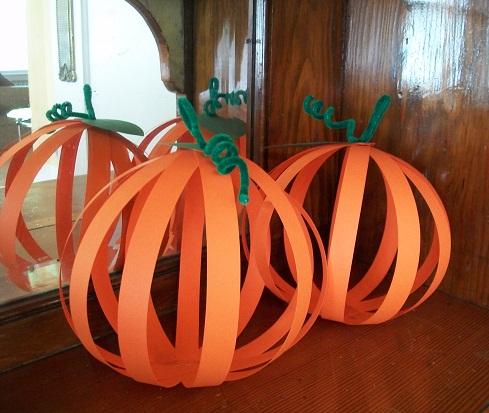 Simple Paper Pumpkin Crafts
