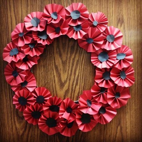 Poppy Wreath Craft