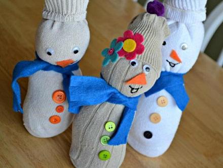 Socks Snowman Crafts