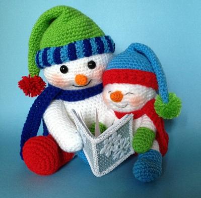 Crochet Pattern Snowman Crafts