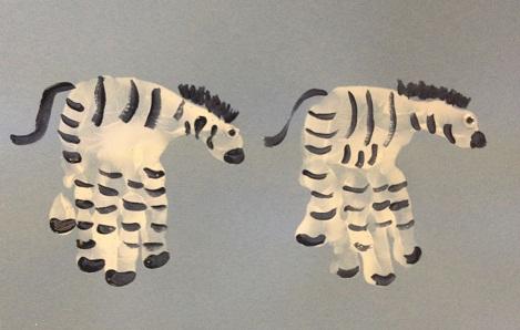 Hand Print Zebra
