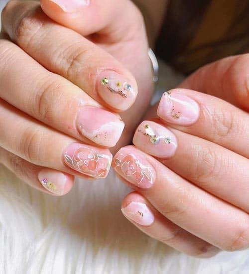 Transparent Winter Nail Art