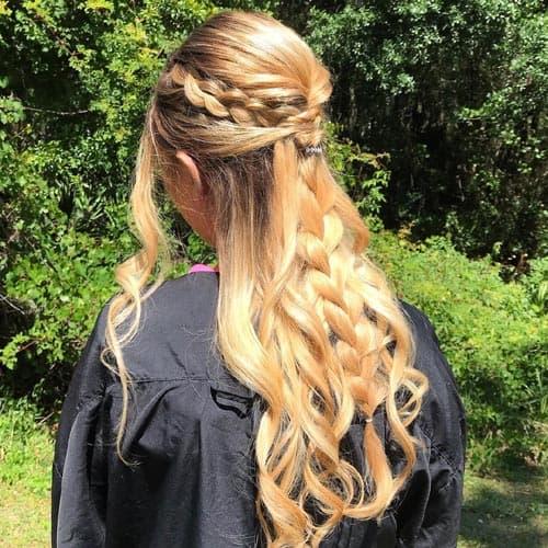 Elegant Braid Updo for Long Hair