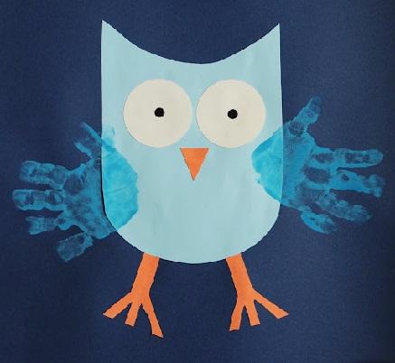 Finger Print Owl Craft