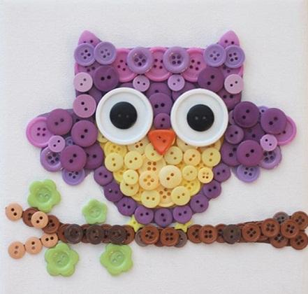 Button Owl as a Craft