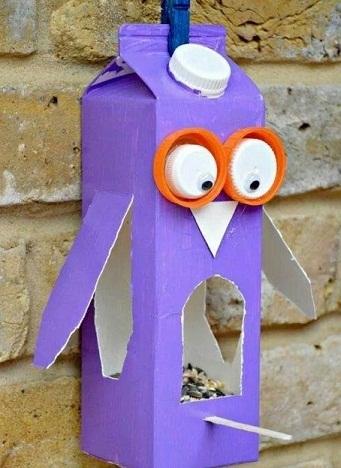 Juice Carton Owl Craft