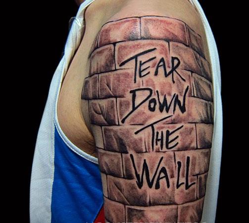 Graffiti Wall Tattoo Design