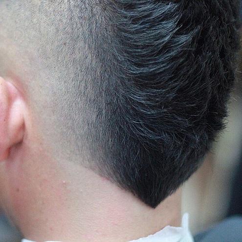 Stylish V Shaped Haircut