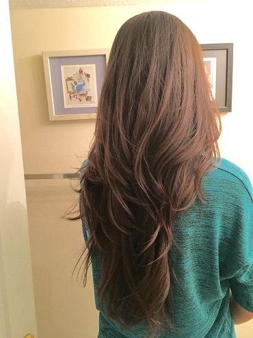 Long Hair V Shaped Haircut