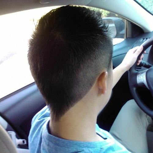 Kids V Shaped Haircut
