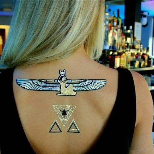 Egyptian Style Metallic Tattoo