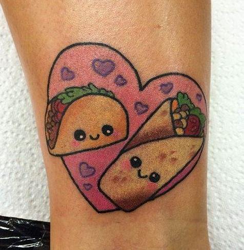 Heart Shape Food Tattoo Design-2
