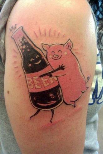 Hilarious Food Tattoos Design