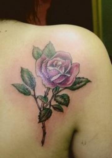 Inspiring Rose Vine Tattoo Design