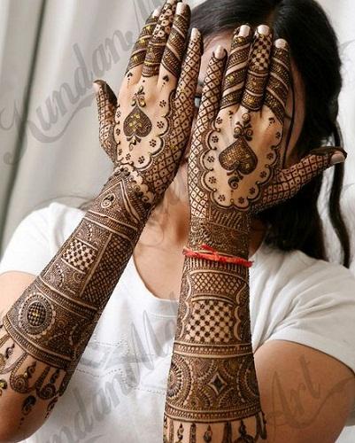 Kundan Mehndi Designs