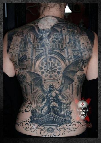 Marvellous Gargoyle Tattoo Design