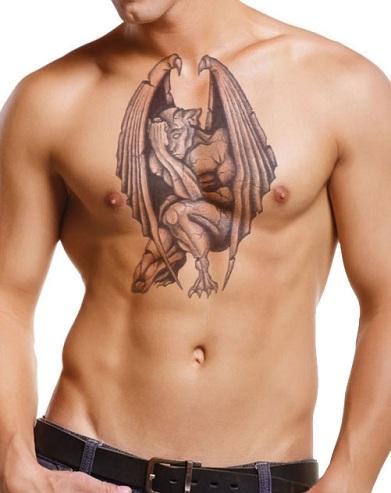 Striking Gargoyle Tattoo Design