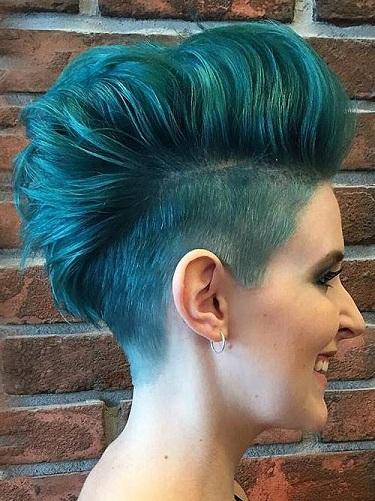 Two Toned Faux Hawk Punk Haircut