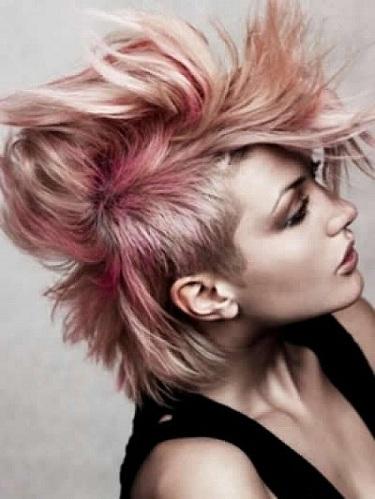 Sky High Mohawk Punk Haircut
