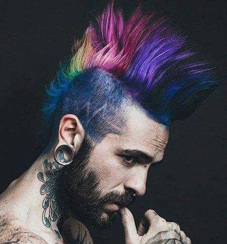 Technicolor Mohawk Punk Haircut