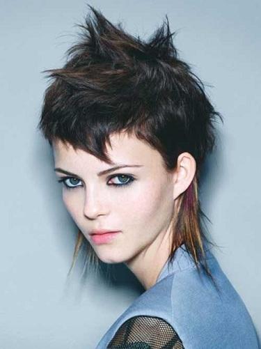 Spiky and Angular Punk Haircut