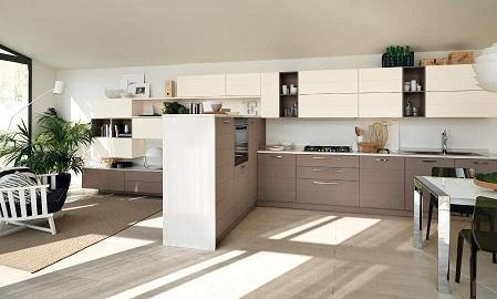 Divided kitchen design