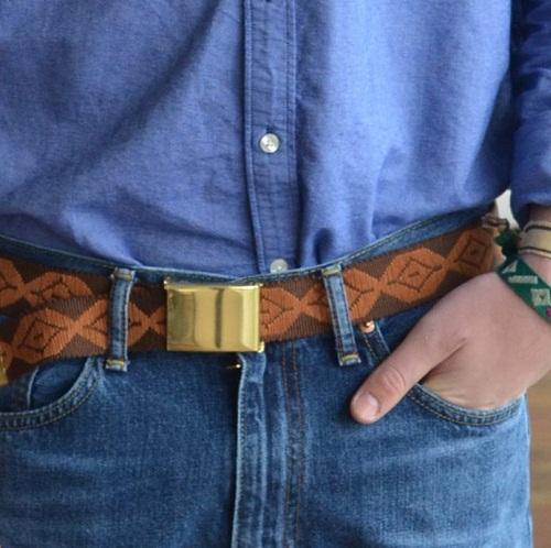 Embroidered Men's Belt