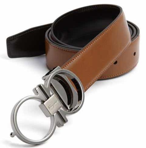 Reversible Leather Black Belt