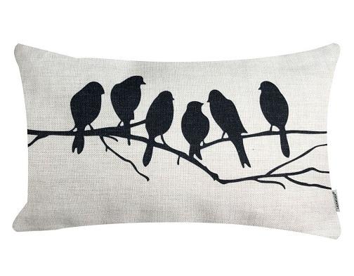 Cotton Linen Blend Decorative Pillow