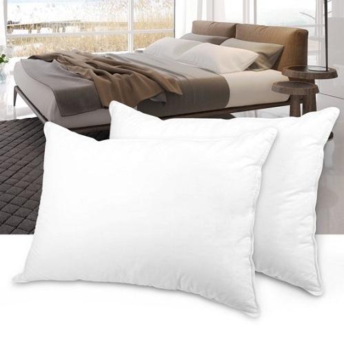 Cotton Plush Down Bed Pillows