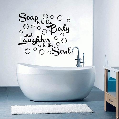 Creative fun style décor for Bathroom