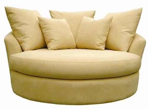 Round Oversized Swivel Chair