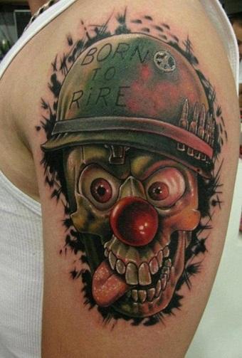 Skull Clown tattoo design
