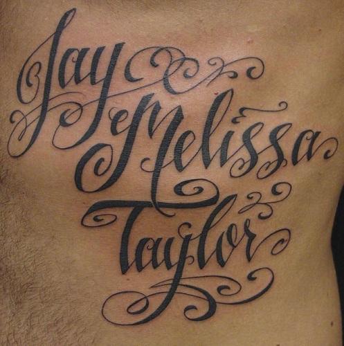 Customized Script Tattoos
