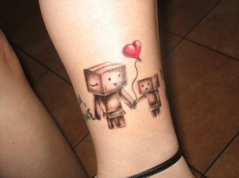 Family Robot Tattoo Design
