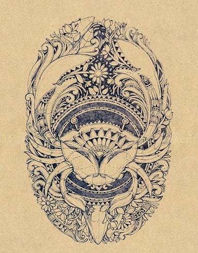 Complex Cancer Tattoo Designs