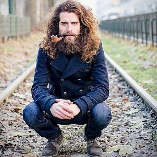 Long Hair and Beard