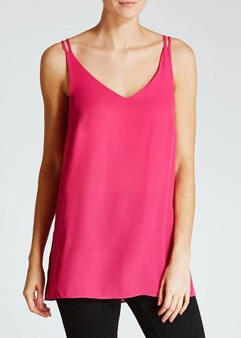 Long line Cami Pink Top