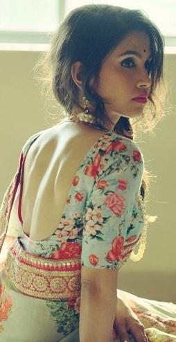Floral, Print U Neck Blouse
