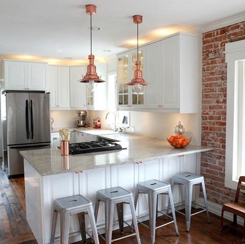 All grey U Shaped Kitchen