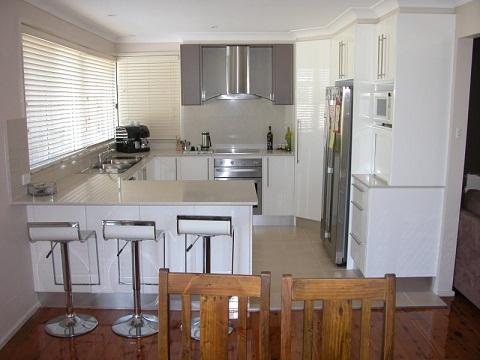 Concrete U Shaped Kitchen