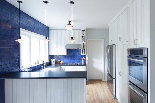 Cobalt Blue U Shaped Kitchen
