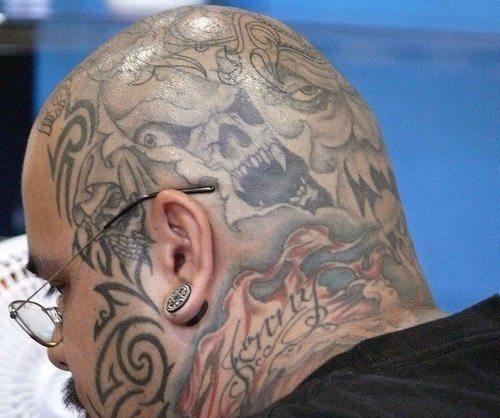 Full Head Tattoos